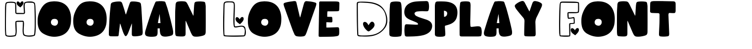 Hooman Love Display Font