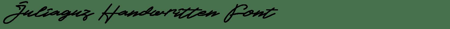 Juliaguz Handwritten Font