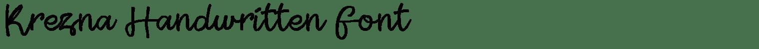 Krezna Handwritten Font