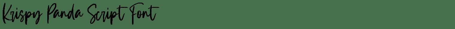 Krispy Panda Script Font