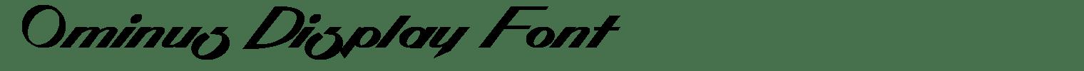 Ominus Display Font