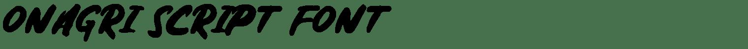 Onagri Script Font