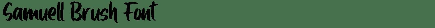 Samuell Brush Font