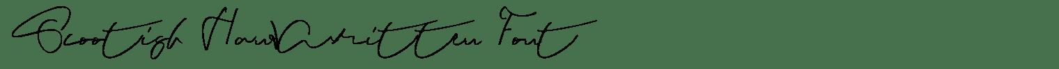 Scootish Handwritten Font