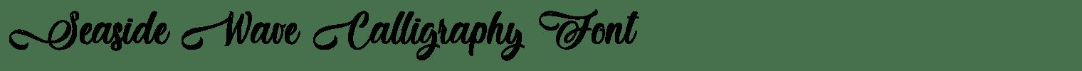 Seaside Wave Calligraphy Font