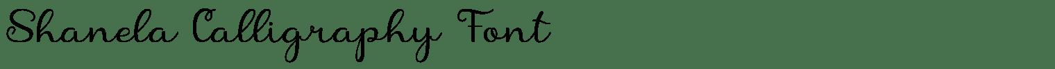 Shanela Calligraphy Font