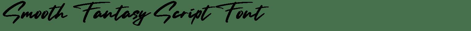 Smooth Fantasy Script Font