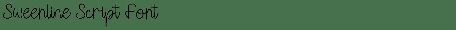 Sweenline Script Font