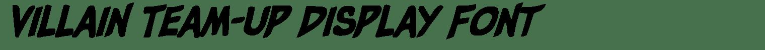 Villain Team-Up Display Font