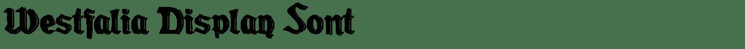 Westfalia Display Font