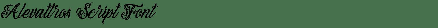 Alevattros Script Font