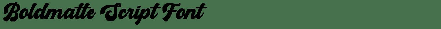 Boldmatte Script Font