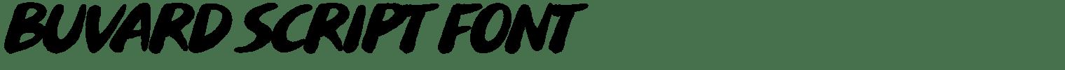 Buvard Script Font