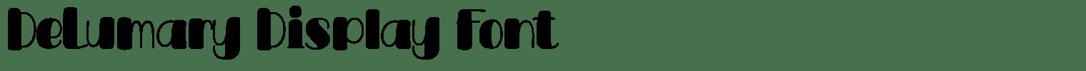 DeLumary Display Font