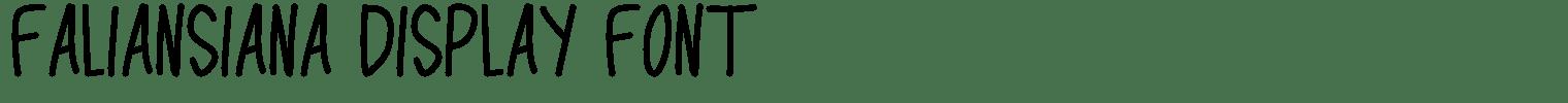 Faliansiana Display Font