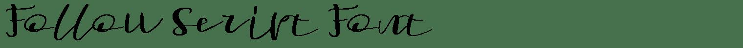 Follow Script Font