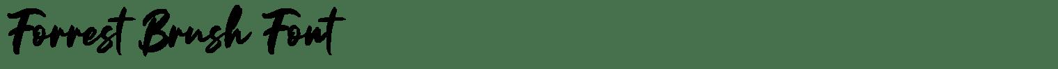 Forrest Brush Font