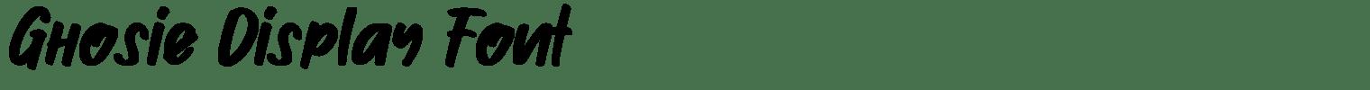 Ghosie Display Font