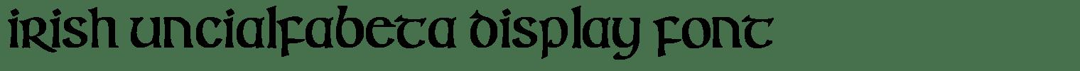Irish Uncialfabeta Display Font