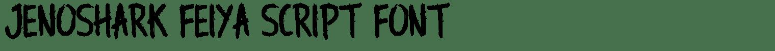 Jenoshark Feiya Script Font
