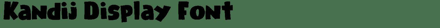 Kandij Display Font