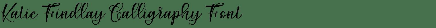 Katie Findlay Calligraphy Font