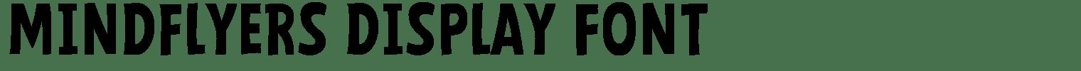 Mindflyers Display Font