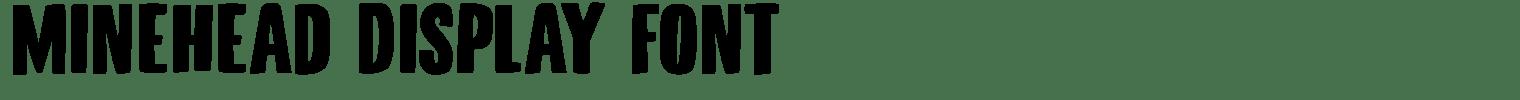 Minehead Display Font