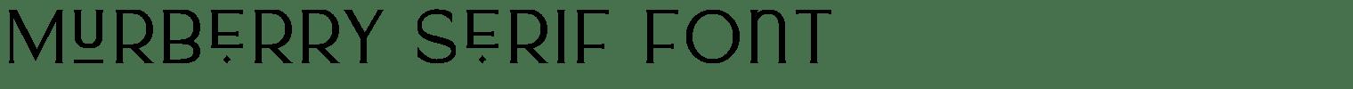 Murberry Serif Font