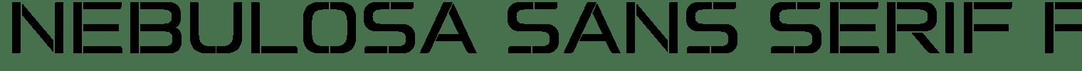 Nebulosa Sans Serif Font