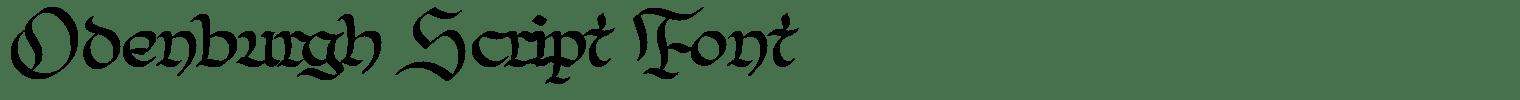 Odenburgh Script Font
