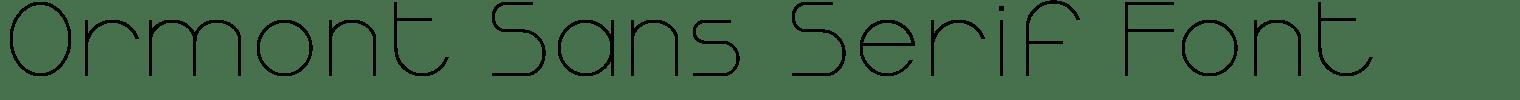 Ormont Sans Serif Font
