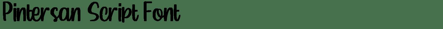 Pintersan Script Font