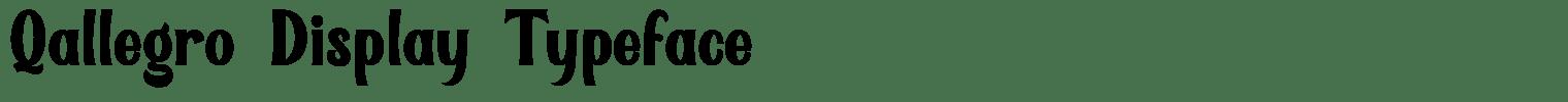 Qallegro Display Typeface