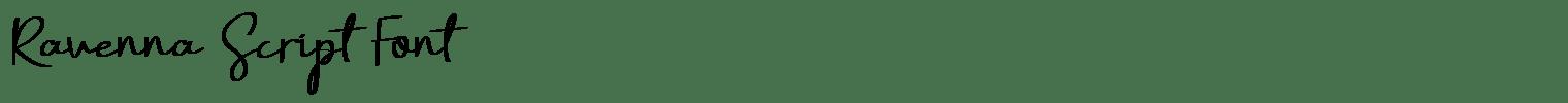Ravenna Script Font