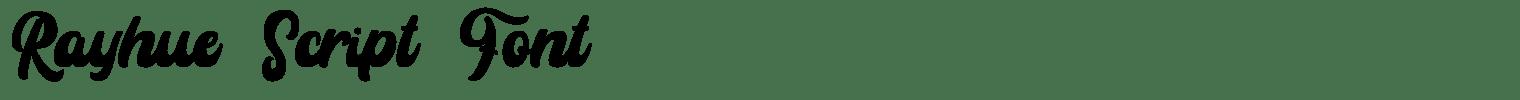 Rayhue Script Font