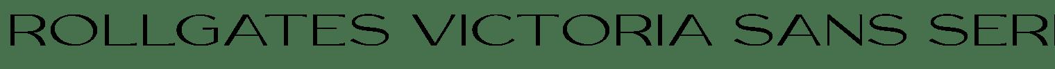 Rollgates Victoria Sans Serif Font