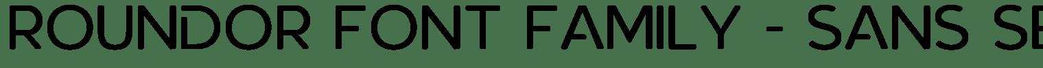 Roundor Font Family – Sans Serif