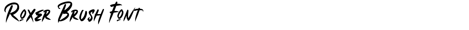 Roxer Brush Font
