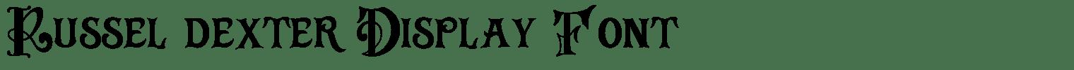 Russel dexter Display Font