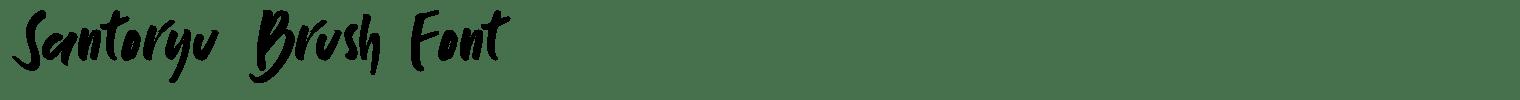 Santoryu Brush Font