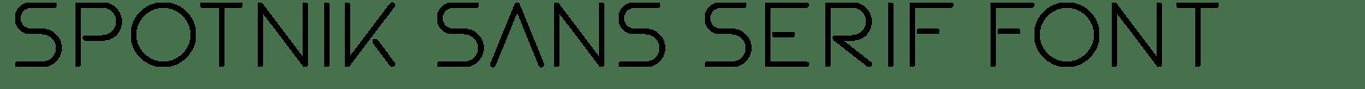 Spotnik Sans Serif Font