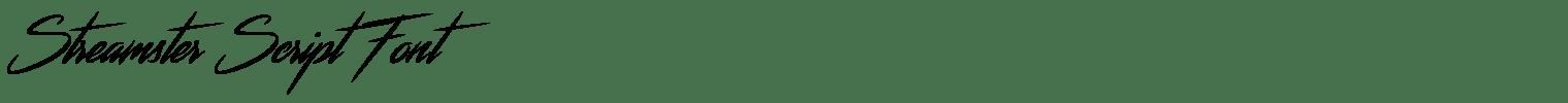 Streamster Script Font