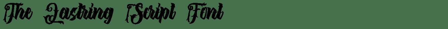 The Lastring Script Font