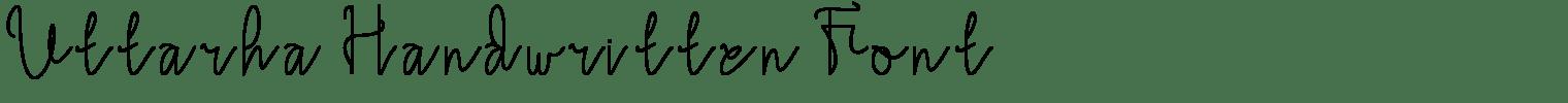 Uttarha Handwritten Font