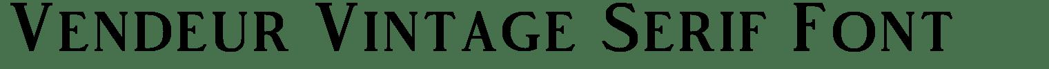 Vendeur Vintage Serif Font
