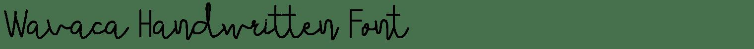 Wavaca Handwritten Font