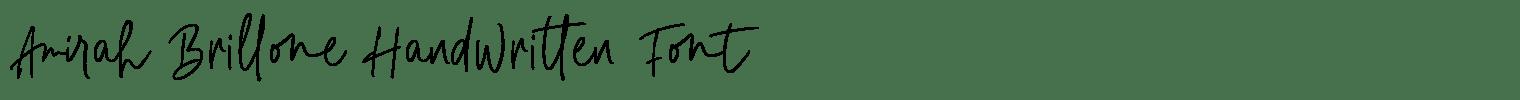 Amirah Brillone Handwritten Font