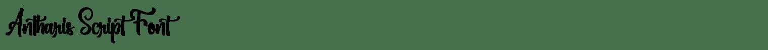 Antharis Script Font