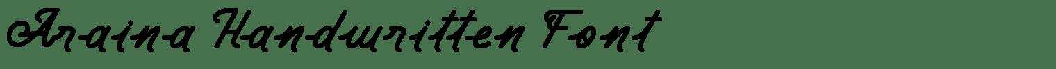 Araina Handwritten Font